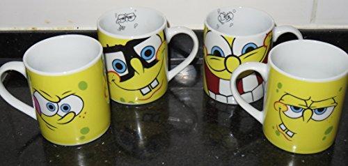 4 SpongeBob Tassen Brille aus Keramik
