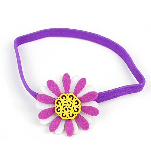 Pegatina cinta de pelo/cinta de cabeza con flor de fieltro y madera