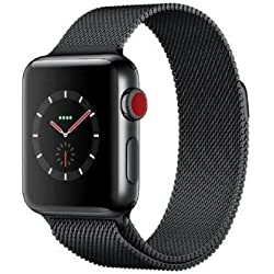 Apple Watch Series 3 OLED GPS (satélite) Móvil Negro Reloj Inteligente - Relojes Inteligentes (OLED, Pantalla táctil, GPS (satélite), Móvil, 42,4 g, Negro)