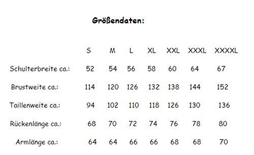 Herren Lederjacke, Motorrad Lederjacke, Bikerjacke, Rind Leder, (XL) - 6
