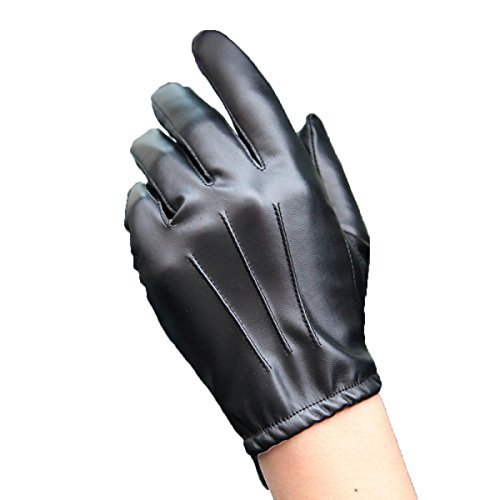 GBT Pu-leder Handschuhe Männer Dünne Abschnitt Fahren Fahren Reiten Motorrad Handschuhe Rutschfeste Volle Touchscreen,Schwarz,Mittel (Dünne Leder-handschuhe)