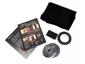moskitonetz mit magnetverschluss universal f r t ren und fenster wei 240 x 140 cm schwarz. Black Bedroom Furniture Sets. Home Design Ideas