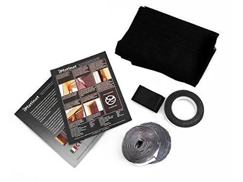 Tenda zanzariera magnetica nera 240x140cm per porte finestre anti zanzare mosche