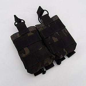 Odin systèmes Close Quarter double M4500d Molle Pouch, Kydex Compatible–Multicam® Noir