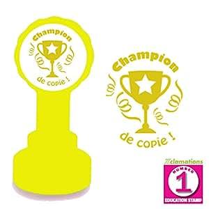 Tampon Encreur Automatique Pour Enseignant, Champion de copie, Or / Bronze Encre. Trophée du Design.