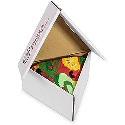 Pizza Socks Box 1 par Vege Unos calcetines únicos, extraordinariamente originales, fabricados en la UE, ideales como regalo! Talla: 36 37 38 39 40 Sorprende a tus amigos Algodón