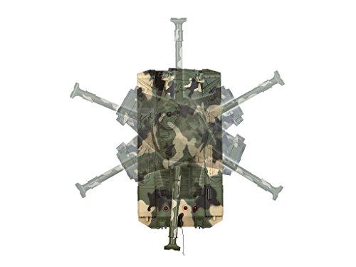 Revell Control 24224 - RC Panzer Set, Battle Game POWER TRACKS, 2 RC Panzer mit Infrarot-Schussfunktion, Soundmodul, Rückstoßeffekt, Mündungsfeuer-LED, Kettenlaufwerk mit Gummikette, MHz - 5