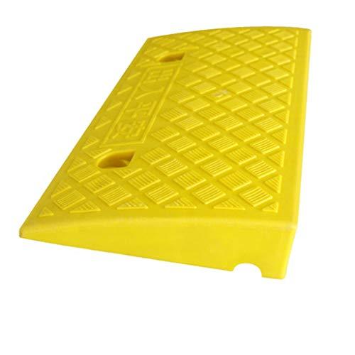 Q-kerb ramps Straßenzahnauflage, Außenfahrzeugrampen Auto The Way Step Pad Bordsteinkantenrampen Skateboard Rollstuhlschwelle Pad Uphill Pad, 6.8-13.2CM (Farbe : Gelb, größe : 49.5 * 26.8 * 6.8CM) (Ramp-auto)