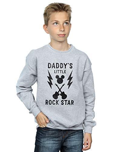 Disney Jungen Mickey Mouse Daddy's Rock Star Sweatshirt 12-13 Years Sport Grey