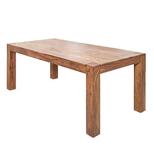 Invicta Interior Massiver Esstisch MAKASSAR 160cm Sheesham Tisch einzigartige Maserung Holztisch Küchentisch