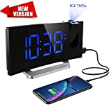 Mpow Projection Alarm Clock [Upgraded Version], Digital Alarm Clock with 2 inch LED