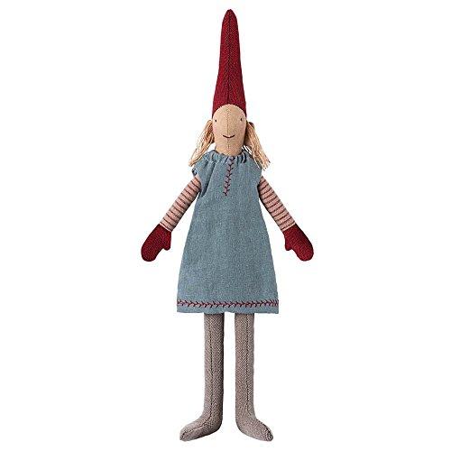 Maileg Pixy Wichtel Mädchen mini blau / rot (Maileg Mais)