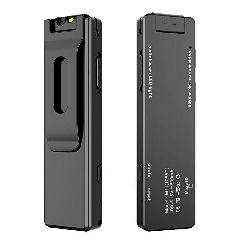 Beawelle Verbesserter tragbarer digitaler Sprach- und Videorekorder, Audio- und Videorecorder mit 8.0 Megapixel umdrehbarer 105 ° Kamera, Unterstützung für 4GB-32GB TF Speicherkarte, multifunktiona