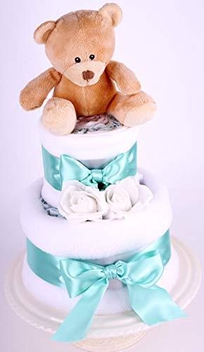 Orgánico 2Tier-tarta pañales bebé-unisex