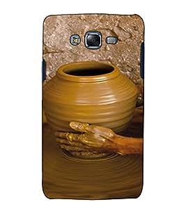 Fuson Designer Back Case Cover for Samsung Galaxy J7 J700F (2015) :: Samsung Galaxy J7 Duos (Old Model) :: Samsung Galaxy J7 J700M J700H (Stone Crusher Craft Handmade )