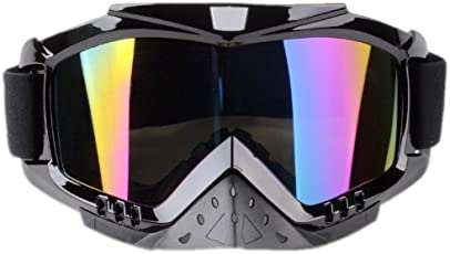 Adult Motorcycle /Off-Road/Dirt Bike Safety Goggles Screen Filter (Multi-colored)