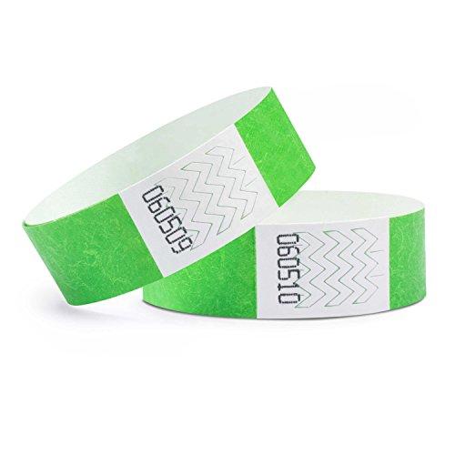 linie zwo®, 100er Pack Securebänder Tyvek® 19 mm, Neongrün