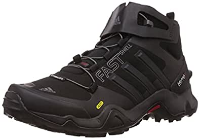 adidas Men's Terrex Fastshell Mid Ch Core Blackand Power Red Multisport Training Shoes - 11 UK