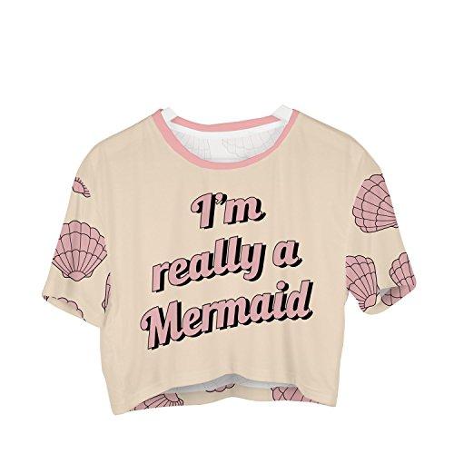 Fringoo Damen T-Shirt mehrfarbig mehrfarbig One size Really Mermaid - Tee