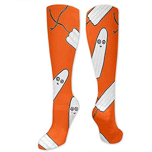 Knee Socks,Kawaii Tampons Orange Soft Comfortable Dress Socks For Outdoor Hiking Biking