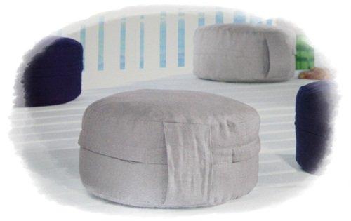 Meditationskissen Yogakissen 100% Naturfaser Baumwolle und Leinen D 30 cm - II.Wahl zum Sonderpreis