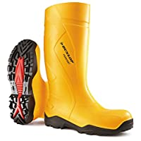 Dunlop Purofort + Plus Full Safety Welly Wellies Wellington Boots Yellow