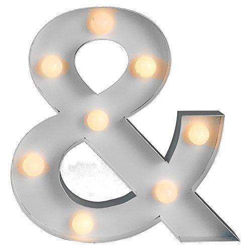 Zeitgenössische, moderne, batteriebetriebene und weiße LED-Lampe im Form eines Et-Zeichens