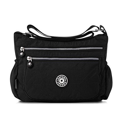 Nlyefa Nylon Handtasche Umhängetasche Damen Sportliche Schultertasche Wasserdicht EINWEG