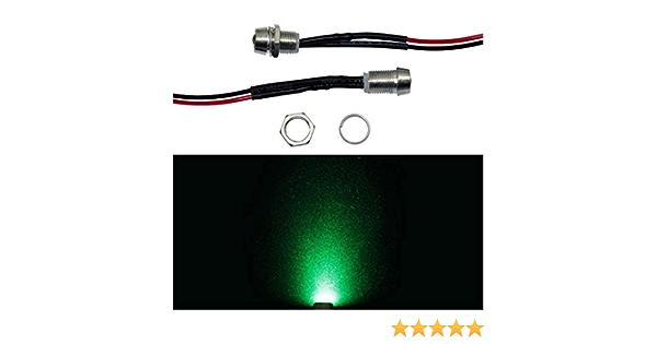 5x Superhelle Signal Schraub Leds Grün 24v 20cm Kabel 15000 20000mcd 45 Beleuchtung