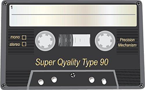 Audio Cassette Super Quality Type 90 Alta Calidad De Coche De Parachoques Etiqueta Engomada 12 x 10 cm