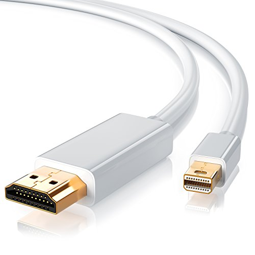 CSL - Mini Displayport auf HDMI Kabel 2m | inkl. Tonübertragung | Kompatibel mit Thunderbolt 1- und Thunderbolt 2-Ports | Full HD HDTV 1080p | kompatibel mit Apple Lenovo Surface Apple Hdmi Kabel