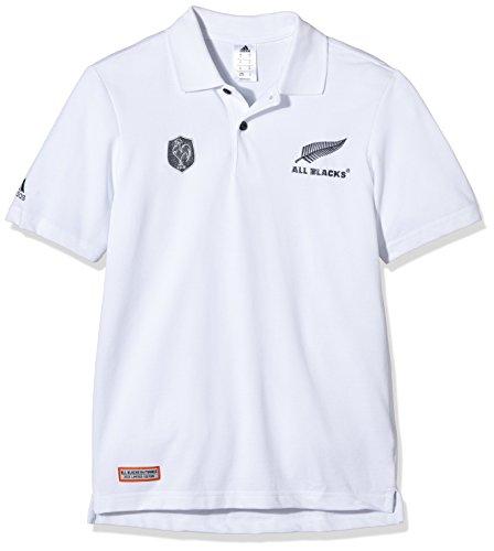 ef1f6488a4b Adidas XV de France Rugby All Blacks Polo de manga corta para hombre, color  blanco