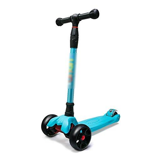 QFFL huabanche Scooter Scooter para Principiantes de Tres o Cuatro Ruedas Scooter para Destello para niños de 3-12 años Bloque Deslizante para Bicicleta 4 Colores Opcional (Color : D)