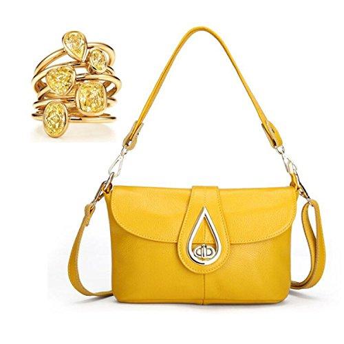 Borsa In Pelle Piazzetta Borsa A Tracolla Di Blocco Messenger Bag,Lightblue yellow