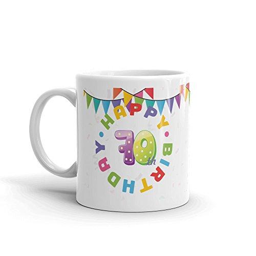 DV Mugs Ltd Happy 70th Birthday Mug