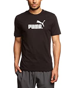 PUMA Herren T-Shirt Large Logo, black-white, S, 817025 01,
