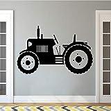 Hwhz 57X35 Cm Tracteur Sticker Grand Pneus Fermier Véhicule Sticker Mural Enfants Enfants Enfant Affiche Murale Décor À La Maison Ferme Murales