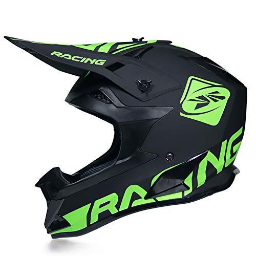 Caschi LWAJ- Casco da Motocross, Quad MTB Downhill ATV Professionale Mountain Bike Moto Cross Full-Face Casco