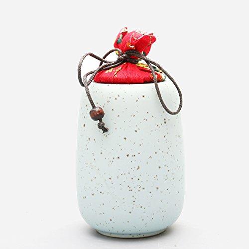 Vaso di porcellana,Canister de thé,Coffres de stockage de thé,Service à thé Service à thé Le caddy Réveiller les boîtes de thé Réservoir d'économies scellé-B