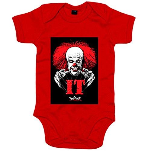 Body bebé IT ilustración película de miedo - Rojo, 6-12 meses