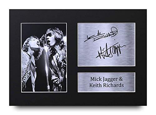 HWC Trading Mick Jagger & Keith Richards Geschenke Unterzeichneten A4 Gedrucktes Autogramm Rolling Stones Musik Druck-Foto-Bilderanzeige