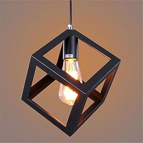 Metal Pendant Light Black Matt Celing Lighting with Unique Geometric