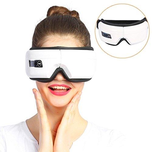Verstellbar Augen Massagegerät Elektrisch Augenschutzvorrichtung mit USB, Musik Komprimierte Luft Vibration Tempel Massage Maschine Entlasten Dunkle Ringe Relief Eye Müdigkeit