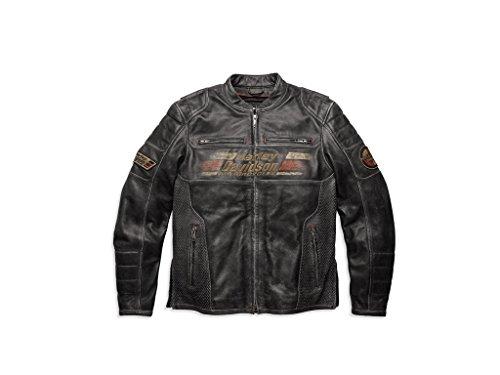Preisvergleich Produktbild Harley-Davidson Men's Astor Distressed Lederjacke 97122-16VM, XXL