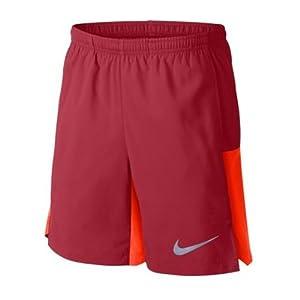 Nike Jungen Flex 6In Challenger Laufshorts, Gym Rot/Hyper Karmesinrot/Schwarz, XS