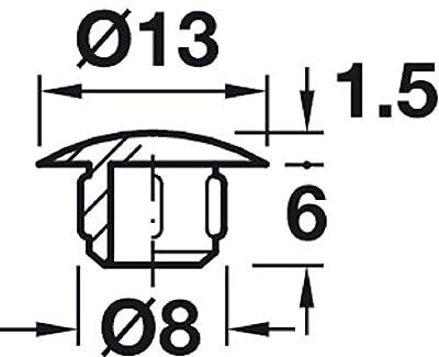 Gedotec Möbel-Abdeckkappen zum Einpressen Blindstopfen schwarz Schrauben-Kappe rund | H1116 | Ø 8 mm | für Blindbohrung | 20 Stück von Gedotec auf Gartenmöbel von Du und Dein Garten