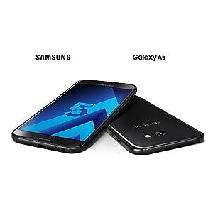 Samsung Galaxy A5 2017 Smartphone portable débloqué 4G (Ecran: 5,2 pouces - 32 Go - Nano-SIM - Android) Noir