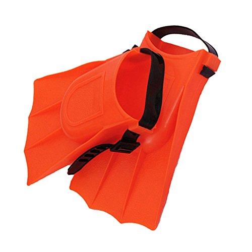 Baoblaze 1 Paar Erwachsene Einstellbare Flossen Schwimmflossen Schwimmtraining Tauchwerkzeuge Orange