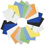 Mikrofaser-Reinigungstücher - 18 bunte Tücher Inklusive 2 ECO-FUSED Tücher - Ideal für die Reinigung von Gläsern, Brille, Kameraobjektive, iPad, Tablets, Handys, iPhone, Android Handys, LCD-Bildschirmen und andere empfindliche Oberflächen