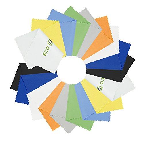 18 Mikrofaser-Reinigungstücher - für Handys, Laptops, Tablets, Brillen, Silberwaren und empfindliche Oberflächen